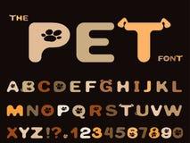 Ajuste da fonte e do alfabeto abstratos ilustração do vetor