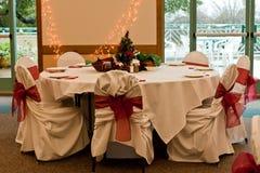 Ajuste da tabela da festa de Natal Fotos de Stock Royalty Free