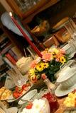 Ajuste da tabela da refeição do feriado Fotos de Stock Royalty Free