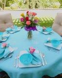 Ajuste da tabela da refeição matinal Foto de Stock Royalty Free