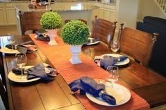 Ajuste da tabela da sala de jantar Imagens de Stock Royalty Free