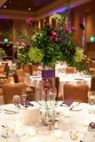 Ajuste da tabela de banquete Imagens de Stock Royalty Free