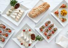 Ajuste da tabela de banquete Fotografia de Stock Royalty Free