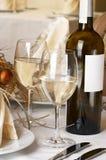 Ajuste da tabela de banquete, Natal fotos de stock royalty free