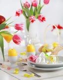 Ajuste da tabela de Easter Imagens de Stock Royalty Free