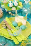 Ajuste da tabela de Easter fotografia de stock royalty free