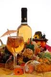 Ajuste da tabela de Halloween Imagens de Stock Royalty Free