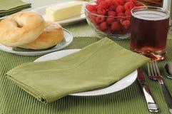 Ajuste da tabela de pequeno almoço Imagem de Stock Royalty Free