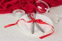 Ajuste da tabela de Valentine Day Fotografia de Stock Royalty Free