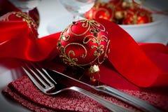 Ajuste da tabela do Natal Foto de Stock
