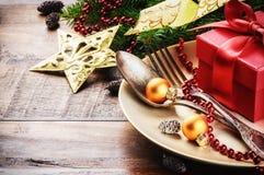 Ajuste da tabela do Natal Foto de Stock Royalty Free