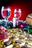 Ajuste da tabela do Natal Fotos de Stock Royalty Free