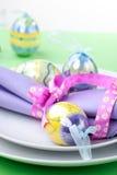Ajuste da tabela do tema de Easter Imagens de Stock