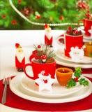 Ajuste da tabela dos feriados de inverno Imagem de Stock Royalty Free