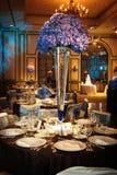 Ajuste da tabela em um copo de água luxuoso Imagem de Stock