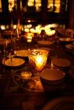 Ajuste da tabela em um restaurante 2 Imagens de Stock