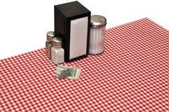 Ajuste da tabela no comensal imagens de stock royalty free