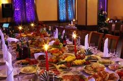 Ajuste da tabela no restaurante Fotos de Stock Royalty Free
