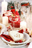 Ajuste da tabela para o Natal Imagens de Stock