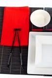 Ajuste da tabela para um jantar Imagem de Stock Royalty Free