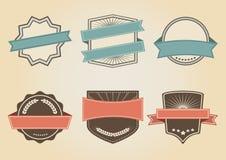 Ajuste das amostras de logotipos do vintage, vetor ilustração do vetor