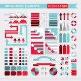 Ajuste das cartas de elementos, do gráfico, do diagrama, das setas, dos sinais, das barras, dos botões, das beiras infographic et ilustração stock