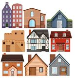 Ajuste das casas diferentes da cultura ilustração do vetor