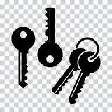 Ajuste das chaves, silhuetas pretas Ilustração do vetor ilustração do vetor
