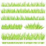 Ajuste das composições horizontais diferentes da grama Gramado isolado do jardim em um fundo branco ilustração royalty free