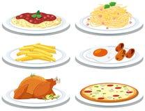 Ajuste das refeições diferentes ilustração do vetor