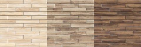 Ajuste das texturas sem emenda de alta resolução do parquet de madeira imagens de stock