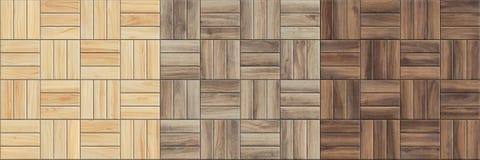 Ajuste das texturas sem emenda de alta resolução do parquet de madeira Testes padrões Checkered fotografia de stock royalty free