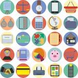 Ajuste de 25 ícones do negócio Fotos de Stock Royalty Free