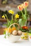 Ajuste de Easter foto de stock