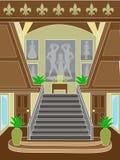 Ajuste de gama alta da escadaria grande Foto de Stock Royalty Free