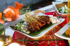 Ajuste de la comida fría Foto de archivo