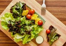 Ajuste de la ensalada de las verduras frescas Imagenes de archivo
