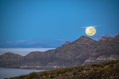 Ajuste de la luna en Bolivia Foto de archivo