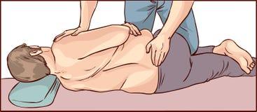 Ajuste de la quiropráctica del cuerpo stock de ilustración