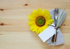 Ajuste de la tabla de la acción de gracias Fotografía de archivo libre de regalías