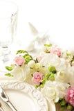Ajuste de la tabla de la boda Fotos de archivo
