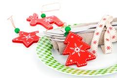 Ajuste de la tabla de la Navidad con el espacio para el texto Imagenes de archivo