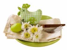 Ajuste de la tabla de Pascua Fotografía de archivo