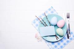 Ajuste de la tabla de Pascua Foto de archivo
