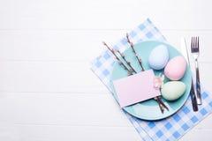 Ajuste de la tabla de Pascua Fotos de archivo libres de regalías