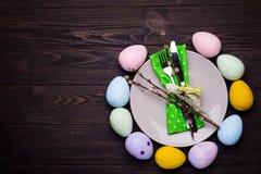 Ajuste de la tabla de Pascua Imagen de archivo