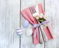 Ajuste de la tabla de Pascua Fotografía de archivo libre de regalías