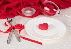 Ajuste de la tabla de Valentine Day Imagenes de archivo