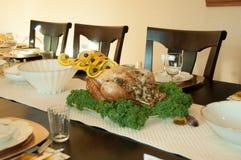 Ajuste de la tabla del Día de Acción de Gracias para Turquía Fotografía de archivo libre de regalías