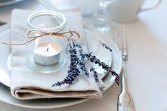 Ajuste de la tabla del estilo de Provence Fotografía de archivo libre de regalías